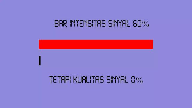 Bar Intensitas Sinyal 60% Tetapi Kualitas Sinyal 0 persen