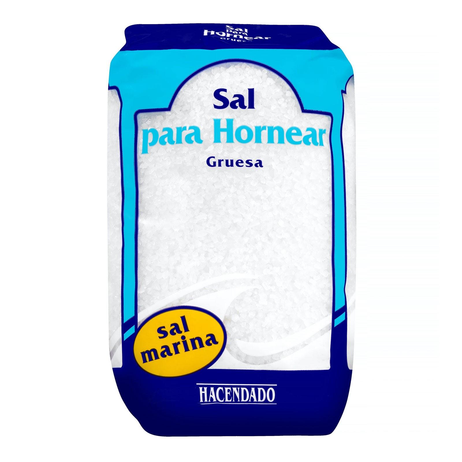 Sal para hornear gruesa Hacendado
