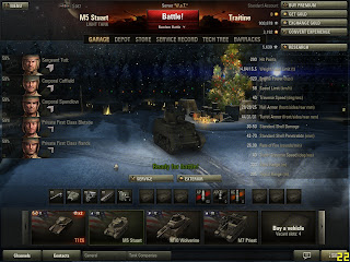 World of Tanks Holiday Menu