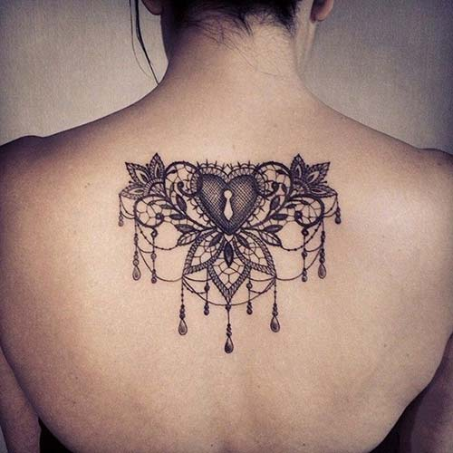 dantel dövmeleri lace tattoos with heart