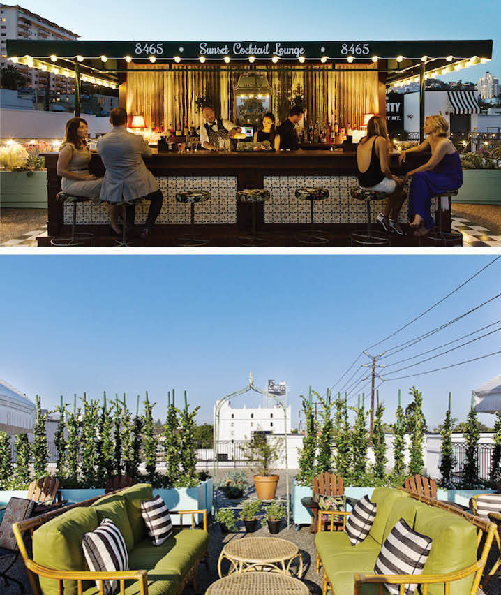The World's 30 Best Rooftop Bars… Everyone Should Drink At #9 At Least Once. - The rooftop bar of the Palihouse restaurant in West Hollywood, California.
