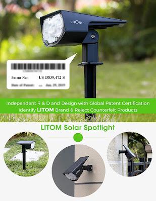 12 LEDS Solar Landscape Spotlights