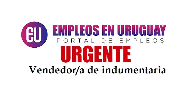 URGENTE Vendedor/a de indumentaria