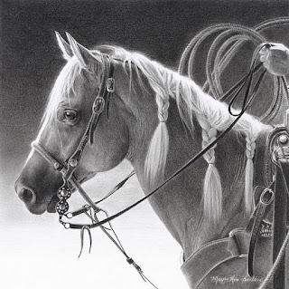 Caballos Dibujos Western Lapiz