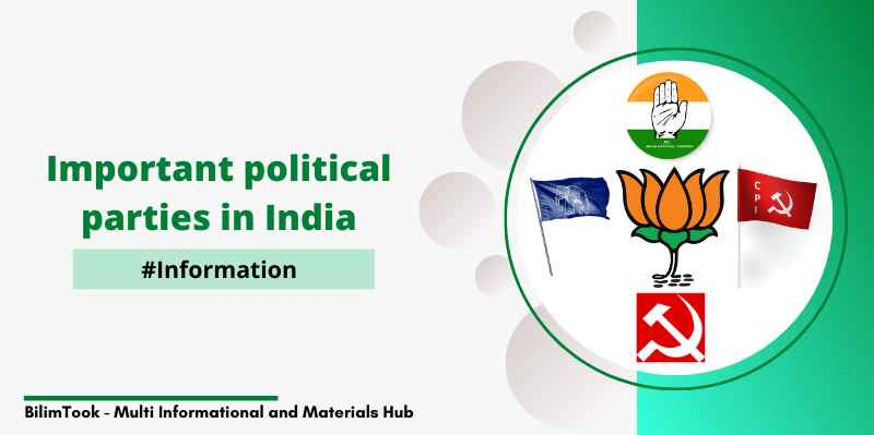 Important political parties in India - PJB, Congress, CPI, etc