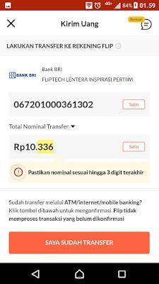 transfer uang online