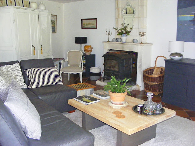 Holiday cottage lounge. Charente-Maritime. France. Photo by Loire Valley Time Travel.