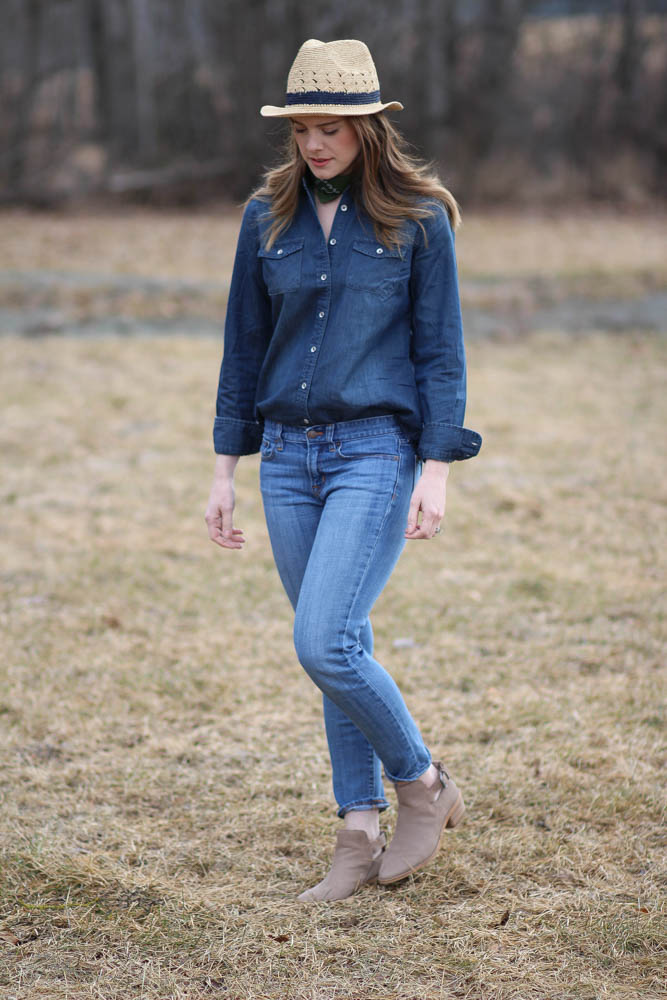 Denim on denim spring style