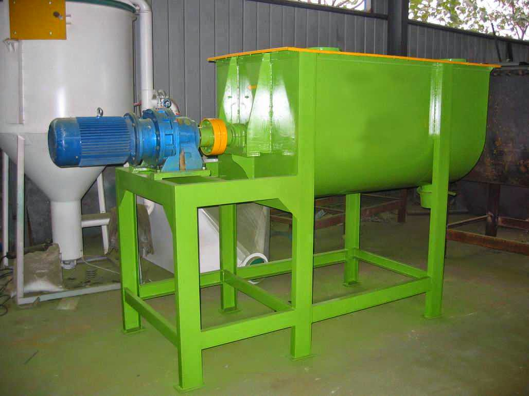 pellet making machine: high accuracy horizontal feed blender
