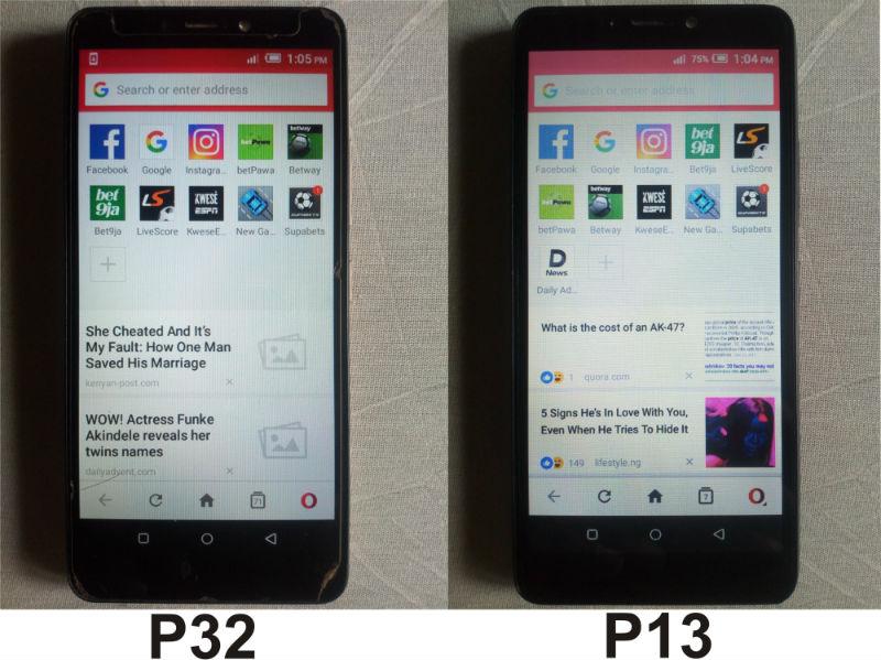 itel-p32-vs-p13