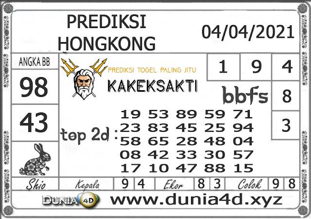 Prediksi Togel HONGKONG DUNIA4D 04 APRIL 2021