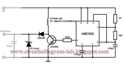 Simple 3 Volt To 9 Volt With Lmc555 Circuit Diagram All