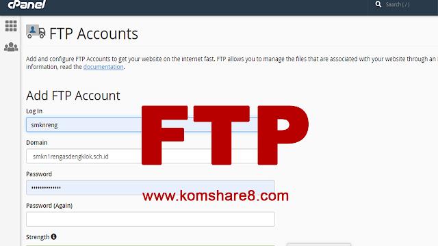 Cara Membuat Akun FTP di CPanel
