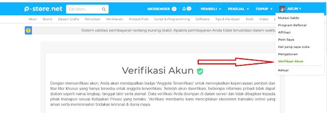 Cara Verifikasi Akun P-Store dengan Upload KTP
