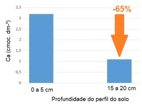 Gráfico - Comparação do teor de Ca