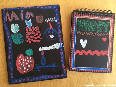 Posca pen decorated notebooks