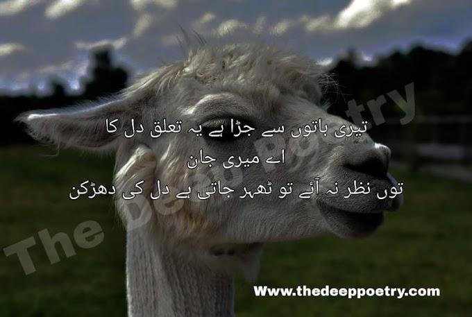Teri Batho Se Jora Hai Yeh Talluq Dil Ka   Ah Meri Jan  To Nazar Na Haye To Teher Jati Hai Dil Ki Darkhan