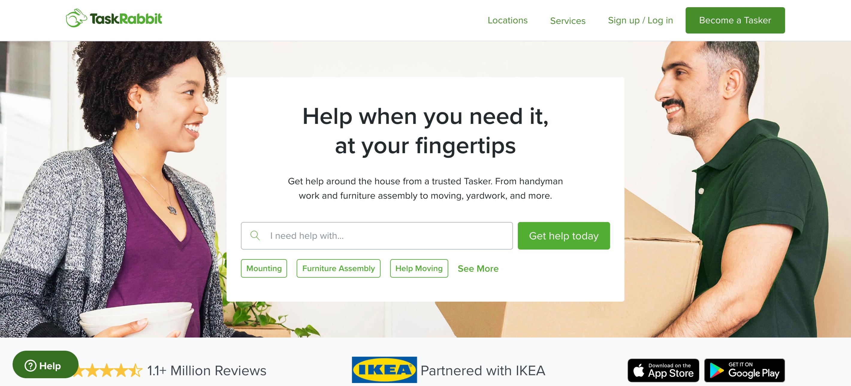 Cleaning services on TaskRabbit