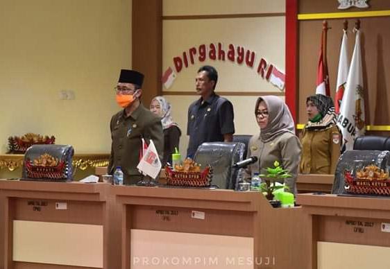 Pembahasan Tingkat Awal, DPRD Mesuji Gelar Paripurna Penyampaian Nota LKPJ