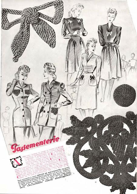 magazine mode et travaux octobre 1942 passementerie