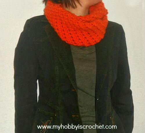 Crochet Infinity Scarf Doris