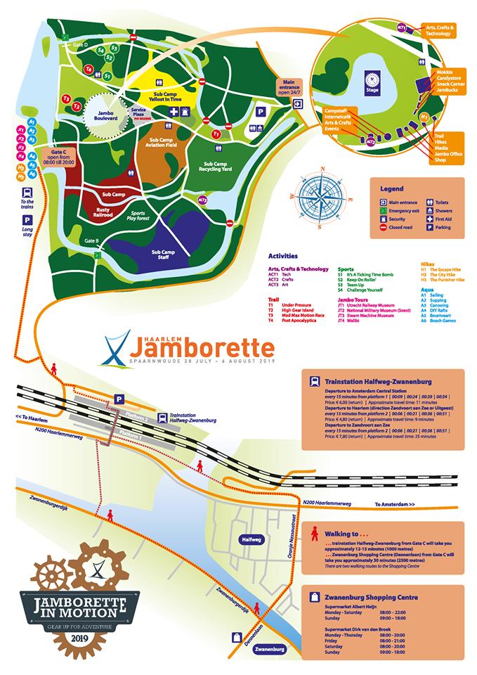 Haarlem Jamborette: Camp map and handbook