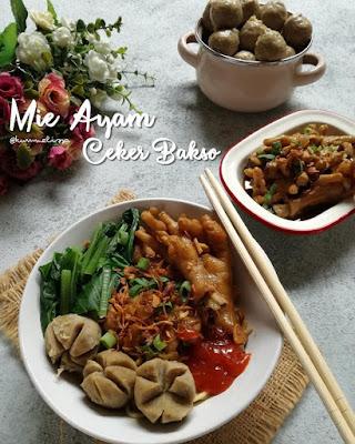Resep Mie Ayam Ceker Untuk 4 Porsi