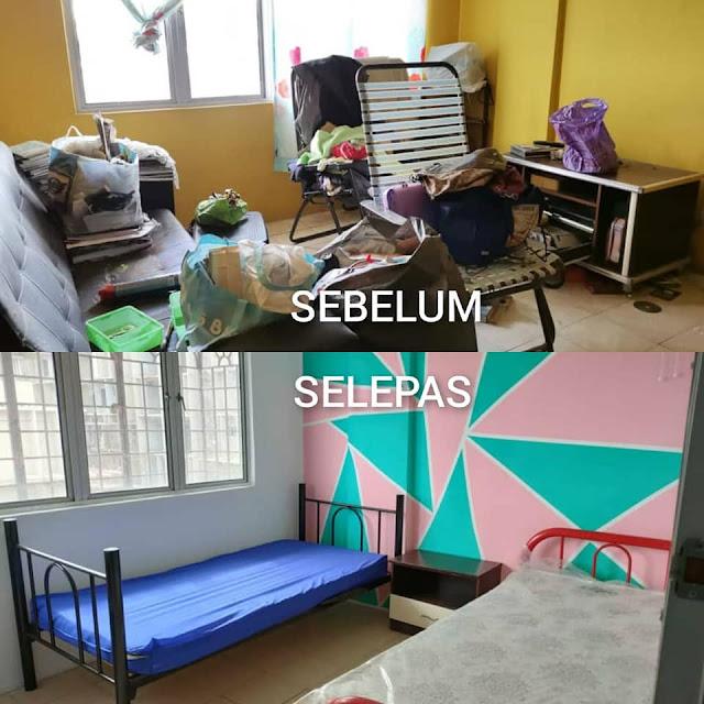 Kena pandai bermain colour cat untuk menaikkan seri bilik rumah lelong