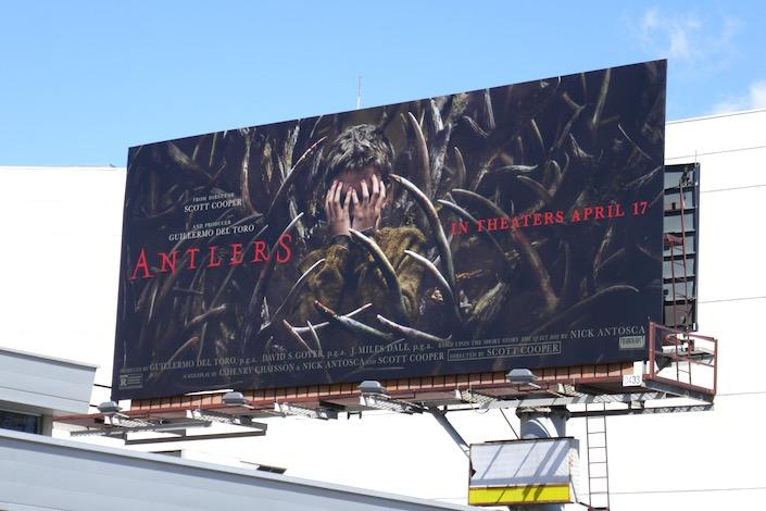 Antlers movie billboard