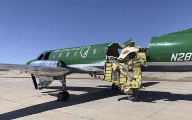 Após colisão no ar, piloto pousa sem perceber avião quase partido ao meio em Denver, nos EUA  -  Adamantina Notìcias