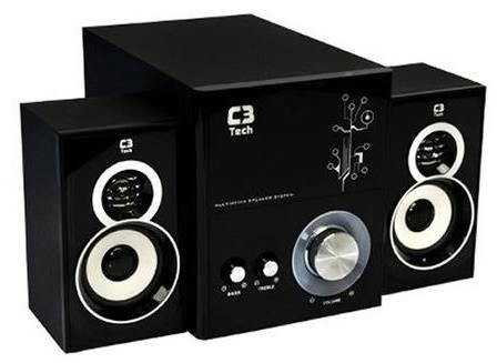 Caixa de som amplificada tem 15 W de subwoofer