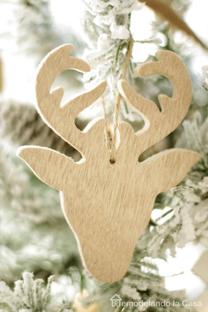 christmas tree, flocked tree, wood, jute rope