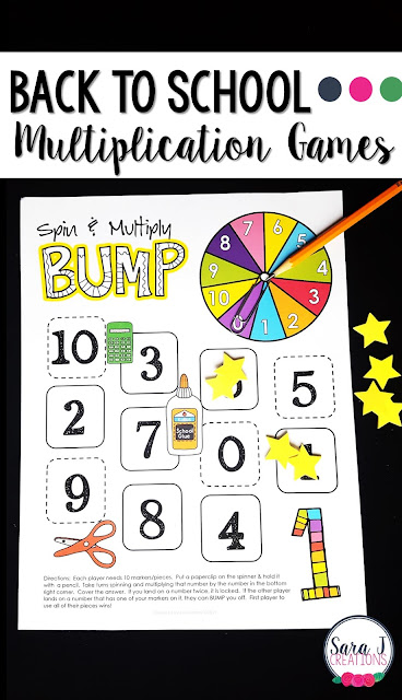 Back to school multiplication games for learning fun!