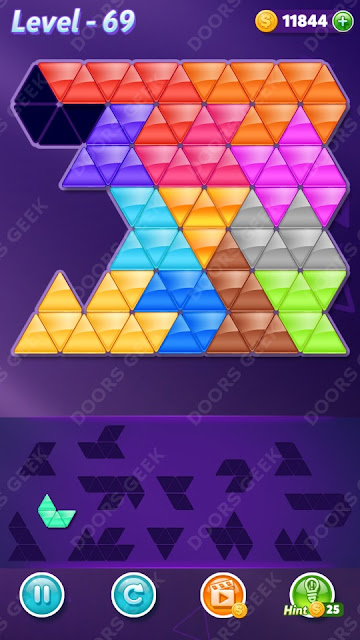 Block! Triangle Puzzle Champion Level 69 Solution, Cheats, Walkthrough for Android, iPhone, iPad and iPod