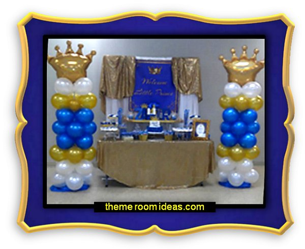 Decorating theme bedrooms maries manor party for A new little prince baby shower decoration kit