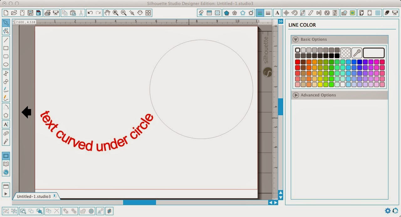 Silhouette Studio, curving text, under a circle, Silhouette tutorial, convert to path