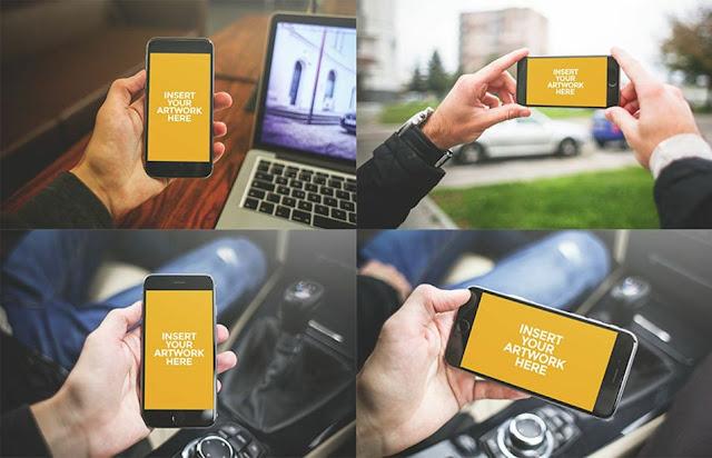 iPhone 6 PSD Mockups