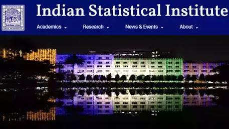Indian Statistical Institute Recruitment 2021