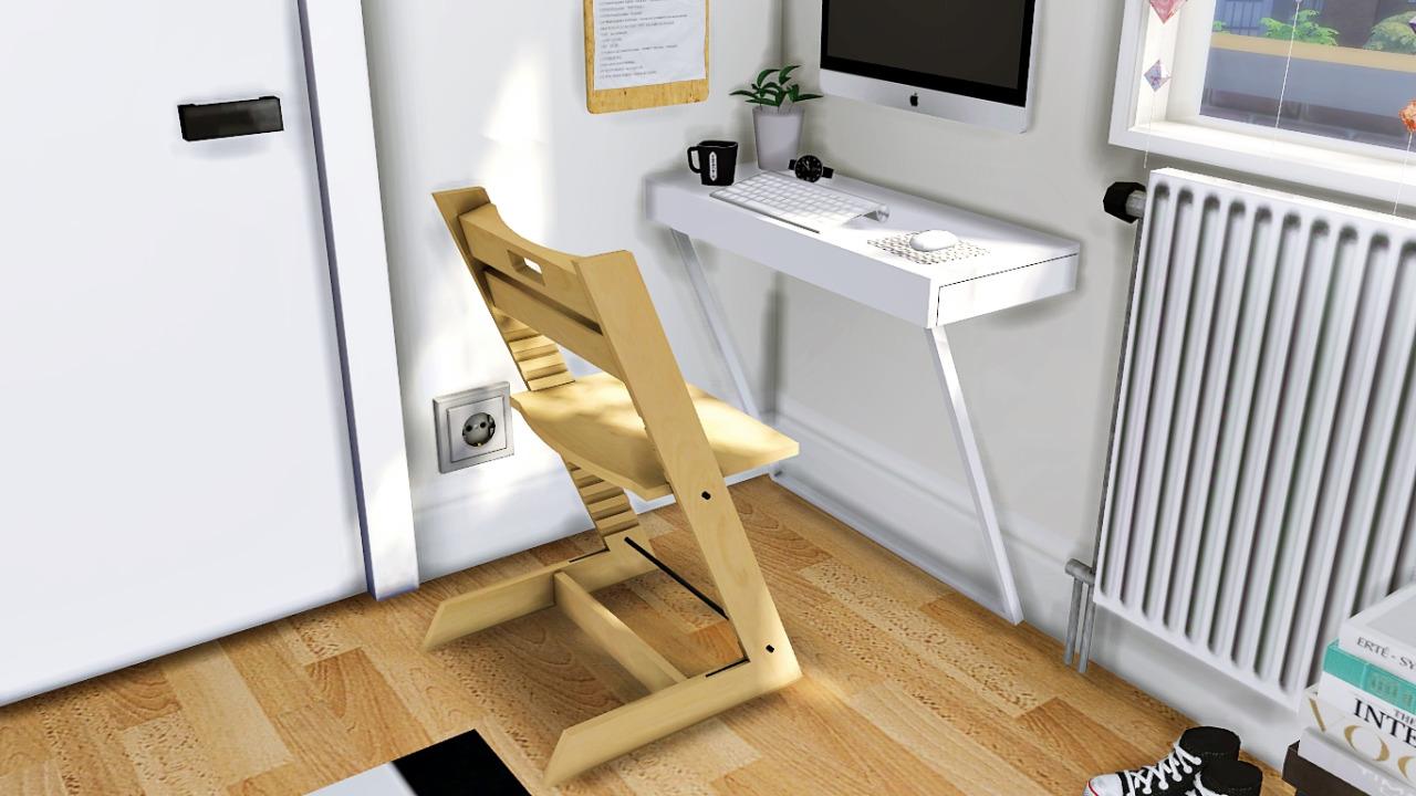 My Sims 4 Blog Ikea Ludvig Wall Mounted Desk Wall