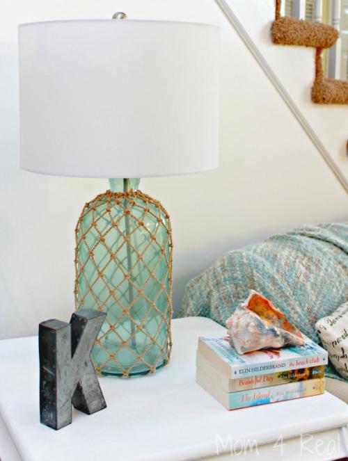 DIY Nautical Bottle Vase Lamp