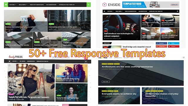 50+ Free Templates for Blogger 2020 | Free Responsive Templates for Blogger 2020