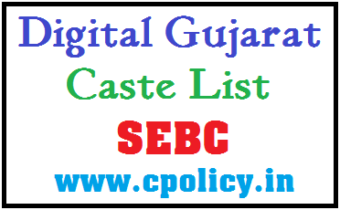 CASTE LIST FOR SEBC CATEGORY IN PDF DOWNLOAD