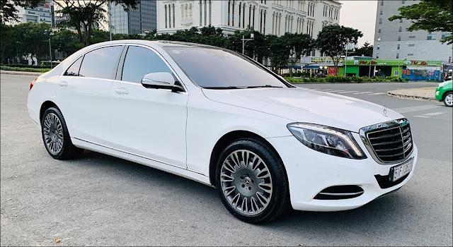 Mercedes S500 L 2015 đã qua sử dụng màu Trắng nội thất Nâu