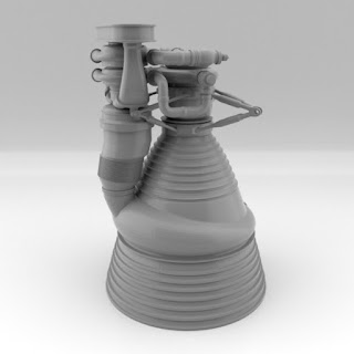 Saturn V Rocket Engine STL file by Paul Van Gaans
