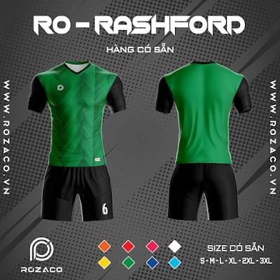 Áo Không Logo Rozaco RO-RASHFORD Màu Xanh Lá