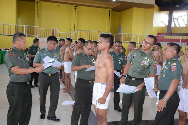 206 Orang Ikuti Sidang Parade Seleksi Cata PK TNI AD Sub Panda Bone