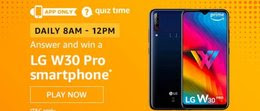 Amazon LG W30 Pro Smartphone Quiz Answer
