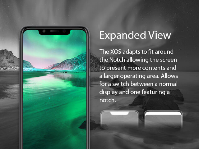 Infinix XOS 4 notch and default display feature