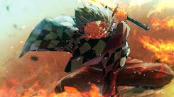 Kimetsu No Yaiba - Fire God Tanjiro [Wallpaper Engine Anime]