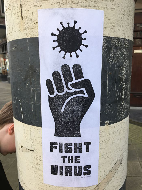 graffiti covid fight the virus